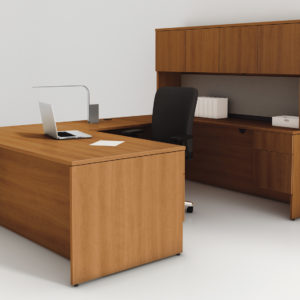 Concept 400E U Desk Suite in Natural Cherry