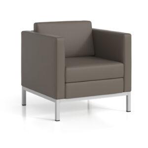 Cube 300 | Arm Chair, Metallic Silver Legs