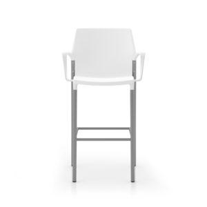 Io Cafe Stool in White