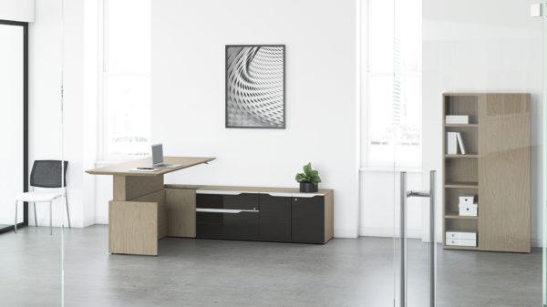 NEX Electric Height Adjustable Desk with return