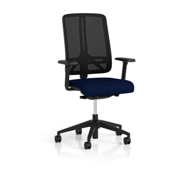 Radiance Management chair with black soft mesh backrest