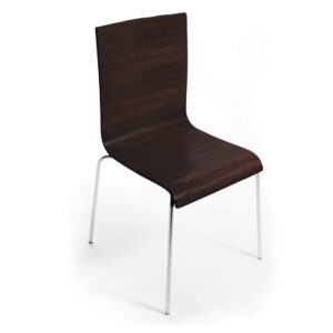 Veinure Stacking Guest Chair in Espresso