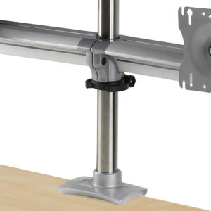 Dual Monitor Arm on a Post